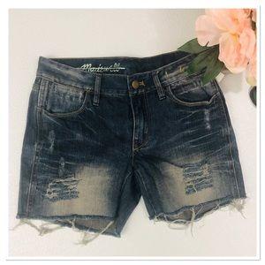 Madewell Distressed Denim cutoff Jean Shorts